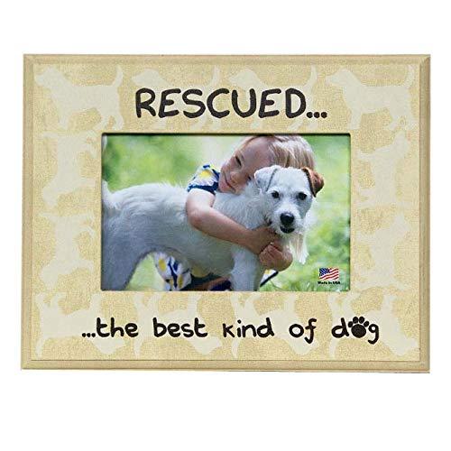 - Rescued Best Kind of Dog Pet Picture Frame