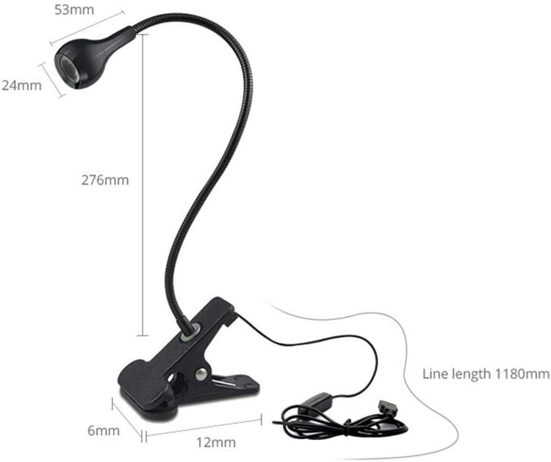 Clip Desk Bed Headboard Book Light Adjustable Clamp Clip on Desk Table Light Lamp for Reading