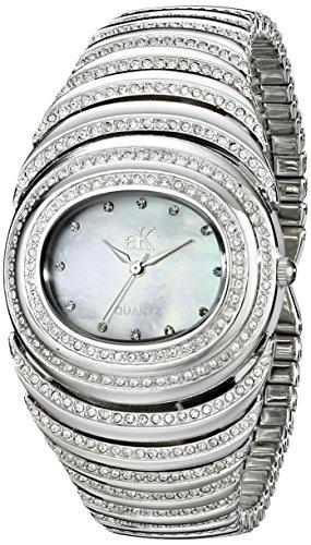 Adee Kaye Women's AK21-L/C Romance Collection Analog Display Analog Quartz Silver Watch