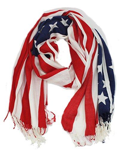 Soft American USA Flag Print Wrap Shawl Scarf 80