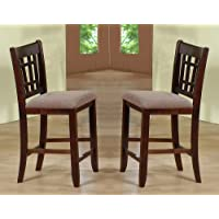 Crown Mark 2185 Empire Counter Height Chair, Espresso, 2 Per Box