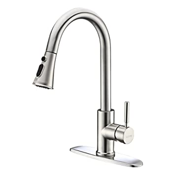 Kitchen Faucets With Pull Down Sprayer Kablle Commercial Single