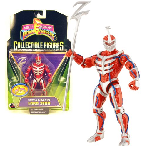 Bandai Year 2008 Power Rangers Mighty Morphin Series 6 Inch Tall Collectible Action Figure - Super Legends LORD ZEDD with Z Staff (Ranger Super Legends)
