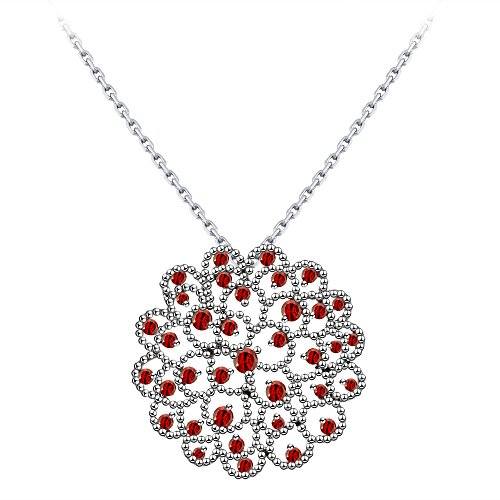 18k Red Gold Necklace - 18k White Gold Pendant Necklace Zircon Diamond Ocean Star Design By CONNIE.Y