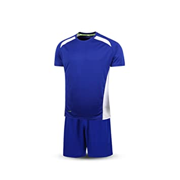 KELME Fútbol Traje Deporte Entrenamiento Equipo Manga Corta Camiseta Ropa para Hombres, Color Azul/
