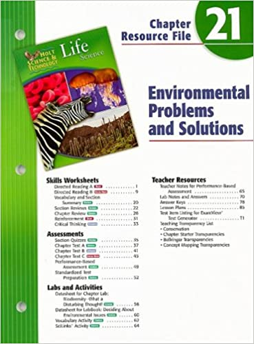 Holt Science Technology Life Science Chapter 21