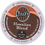 hawaiian coffee cup - 48 Count - Tully's Coffee Hawaiian Blend Coffee K Cup For KEURIG Brewers