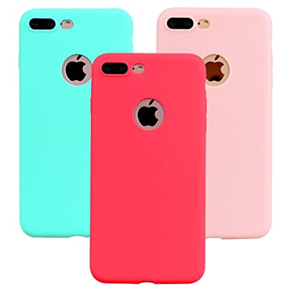 "1a34099842d Funda iPhone 8 Plus, 3Unidades Carcasa iPhone 8 Plus(5.5"") Silicona Gel"