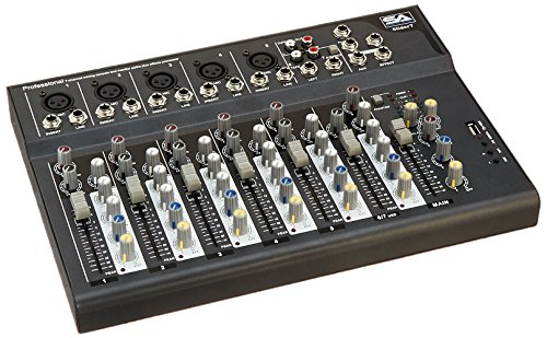 - Seismic Audio - Slider7 - 7 Channel Mixer Console with USB Interface