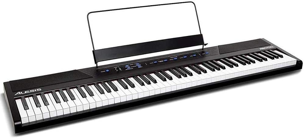 Alesis Recital | 88 Key Beginner Digital Piano / Keyboard with Full Size Semi Weighted Keys
