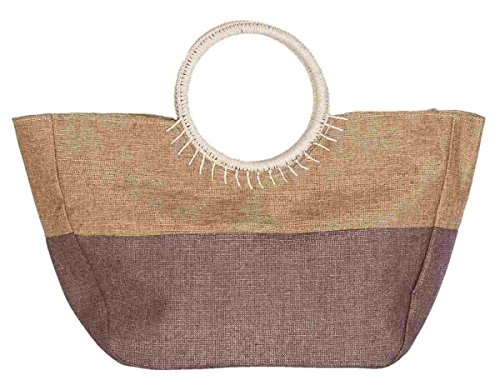 Clayre & Eef BAG284 spiaggia Shopper bag shopping bag circa 97 x 13 x 32 cm marrone