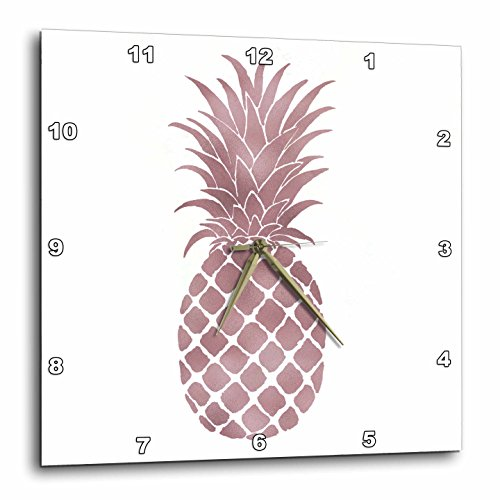 PS Chic - Picturing Rose Gold Pineapple - Wall Clock
