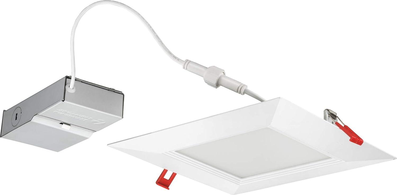 Lithonia Lighting WF8 SQ B 30K40K50K 90CRI MW M6 LED Color Temperature Selectable Ultra Thin Recessed Downlight, 3000K | 4000K | 5000K, White