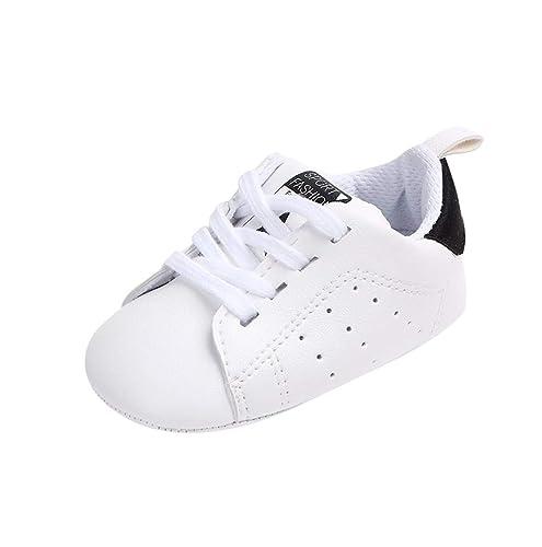 3eeac312468 Gusspower Zapatos de Bebé Zapatillas Deportivas para bebés recién Nacidos Primeros  Pasos Calzado de Cuero Antideslizante