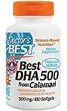 Doctor's Best Best DHA 500 from Calamari, 500 mg, 180 Softgel Capsules