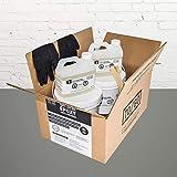100% solid medium grey garage floor epoxy kit #388
