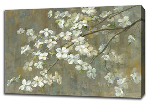 """Tangletown Fine Art Dogwood in Spring by Danhui Nai, Digitally Printed Gallery Wrap Canvas Art Painting. 30""""x45"""" Wall from Tangletown Fine Art"""