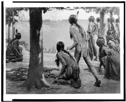 Photo: Coming,white man,Christopher Columbus,journeys,Indians,Native (Christopher Columbus Map For Kids)
