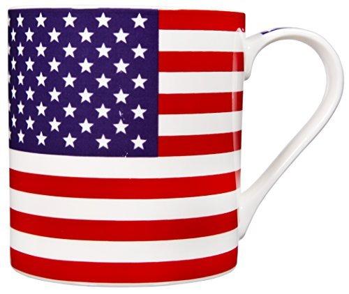(Home Essentials American Flag Coffee Mug, Stoneware, 17 ounce )
