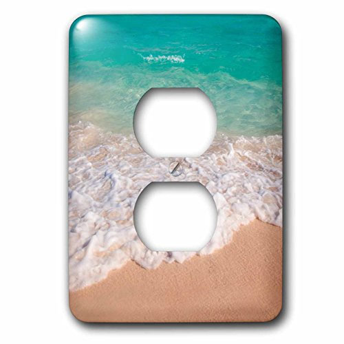 3dRose LSP_187298_6 Blue and Green Water Off Orient Beach in St. Maarten, West Indies 2 Plug Outlet Cover, ()
