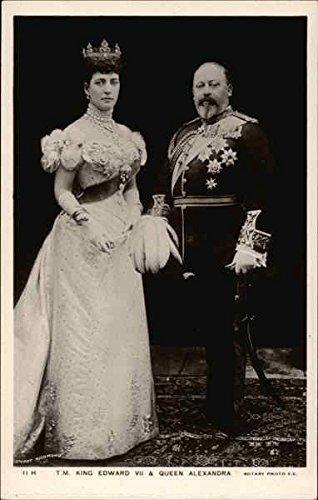 T. M. King Edward VII and Queen Alexandra Royalty Original Vintage Postcard from CardCow Vintage Postcards