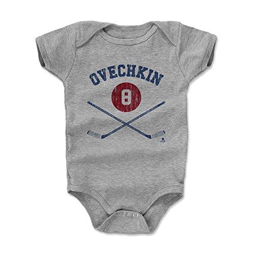 500 LEVEL Alex Ovechkin Washington Capitals Baby Clothes, Onesie, Creeper, Bodysuit (3-6 Months, Heather Gray) - Alex Ovechkin Sticks - Stick Hockey Ovechkin