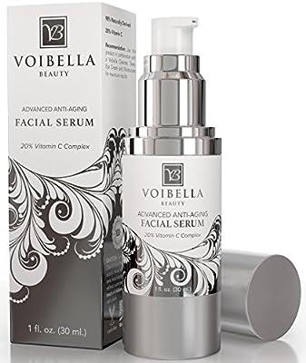 Voibella Advanced Anti-Aging Vitamin C Facial Serum - Best Natural Anti Wrinkle Face Serum For Women: Hydrating, Smoothing, Tightening, Firming, Pore Min & Anti Blemish (BONUS E-Book & Consultation)