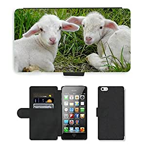 Hot Style Cell Phone Card Slot PU Leather Wallet Case // M00115140 Lambs Sch??fchen Animals Sheep Nature // Apple iPhone 5 5S 5G