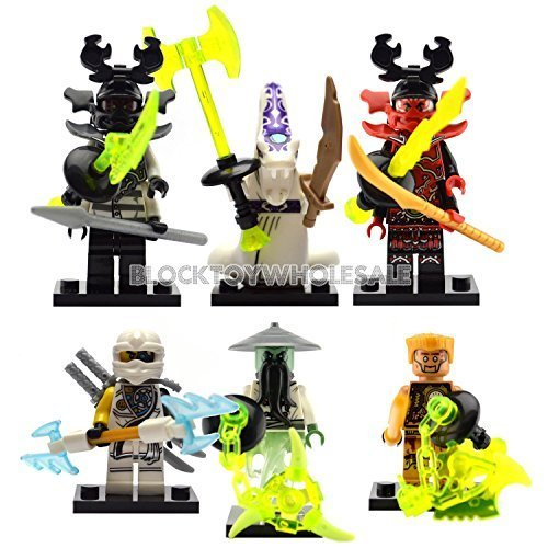 2 Person Movie Costumes (New 12 Custom Minifigures Set Lots Ghost Yang Nya Zane Llyod Kai lE go)