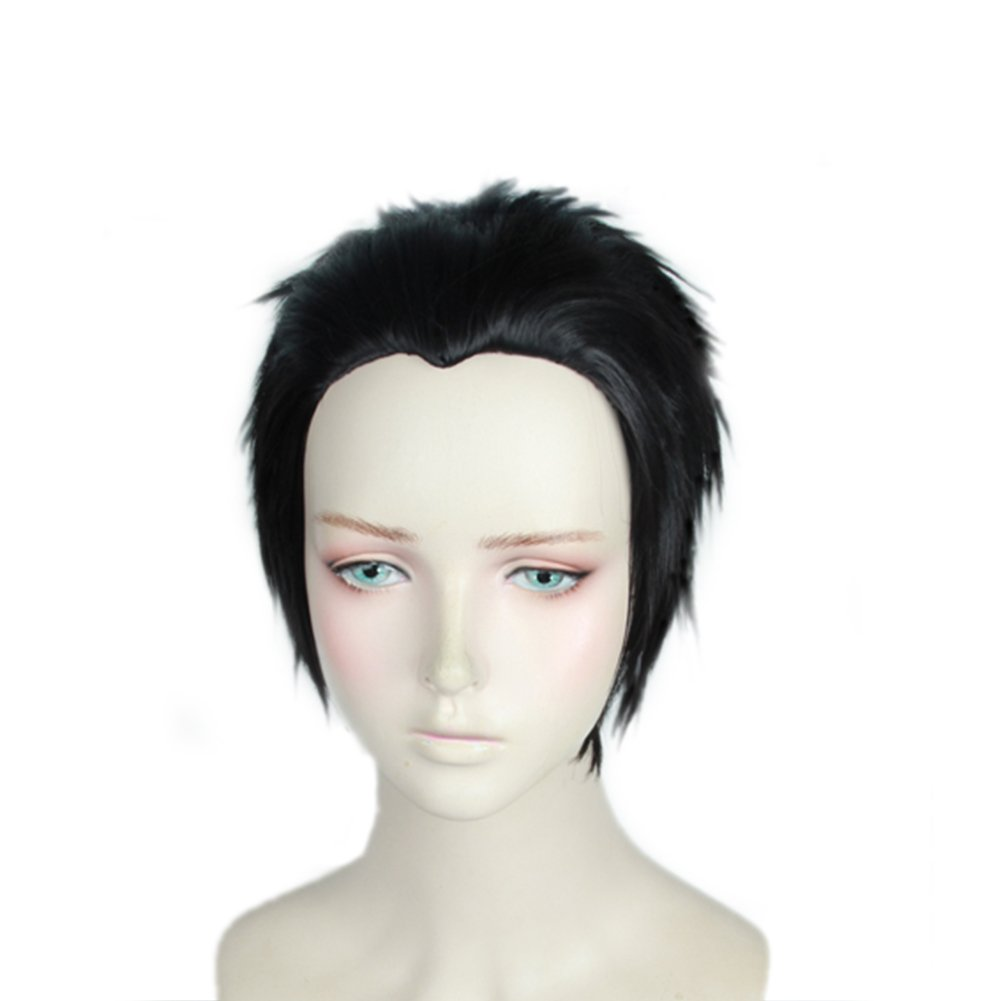 Coslive Yuri Katsuki Wig Short Black Wig Yuri on Ice Anime Cosplay Costume Accessories