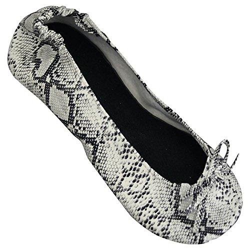 Dawgs Womens Bendable Ballet Flat Snakeskin