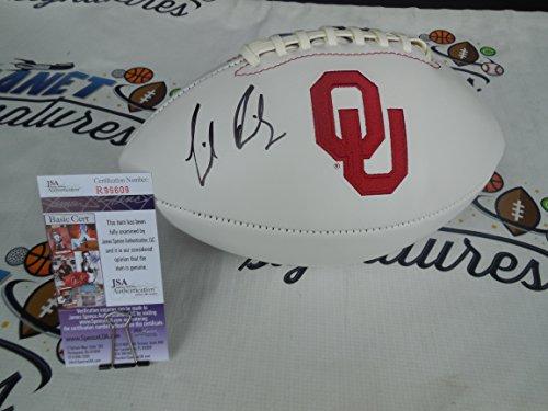 Lincoln Riley signed Oklahoma OU Sooners logo football JSA COA