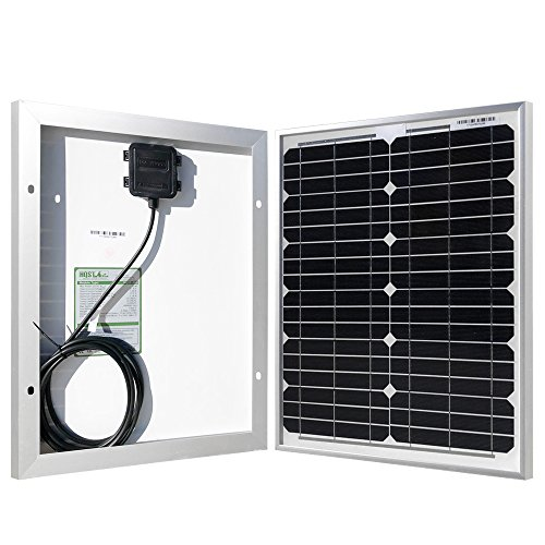 - HQST 20 Watt 12 Volt Monocrystalline Solar Panel for DC 12V Battery Charging and Any Other Off Grid Applications
