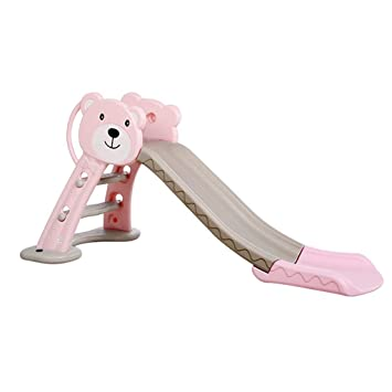 Slides for kids long thick slides indoor foldable toys small playground for home very safe and healthy will not hurt your baby Baby Products Color : Pink, Size : 160 * 41 * 81cm