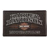 ハーレーダビッドソンアメリカンレジェンドPVCエントリーフロアマット、18 x 30 - ブラック