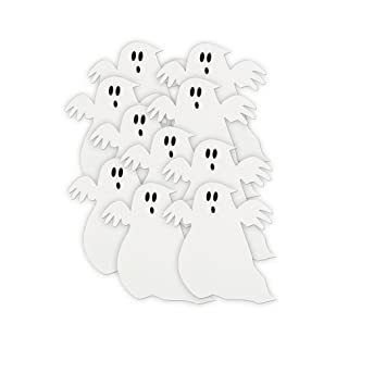 5 paper cutout ghost halloween decorations - Halloween Cutout Decorations