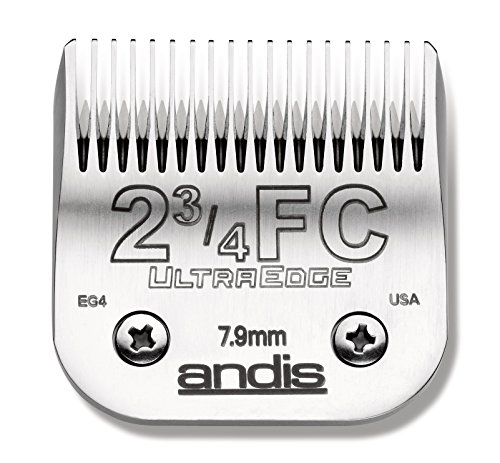 Andis Carbon-Infused Steel UltraEdge Clipper Blade, Size-2-3/4 FC, 5/16-Inch Cut Length (63165) ()
