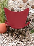 Classic Butterfly Chair - Red on Blackframe