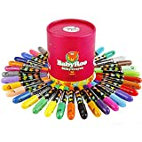Joan Miro Washable Silky Smooth Crayons Face Painting -Rotating Markers Pastel Watercolor Effects Sticks Non-Toxic for Kids 36 Colors