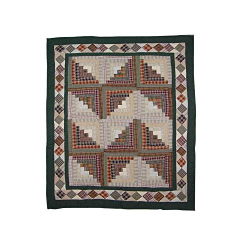 Patch Magic Hand-quilted Cotton Patchwork Baby Quilt Peasant Log Cabin
