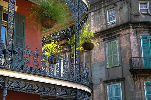 - New Orleans French Quarter Architecture Photo Art Print Poster 36x24 inch