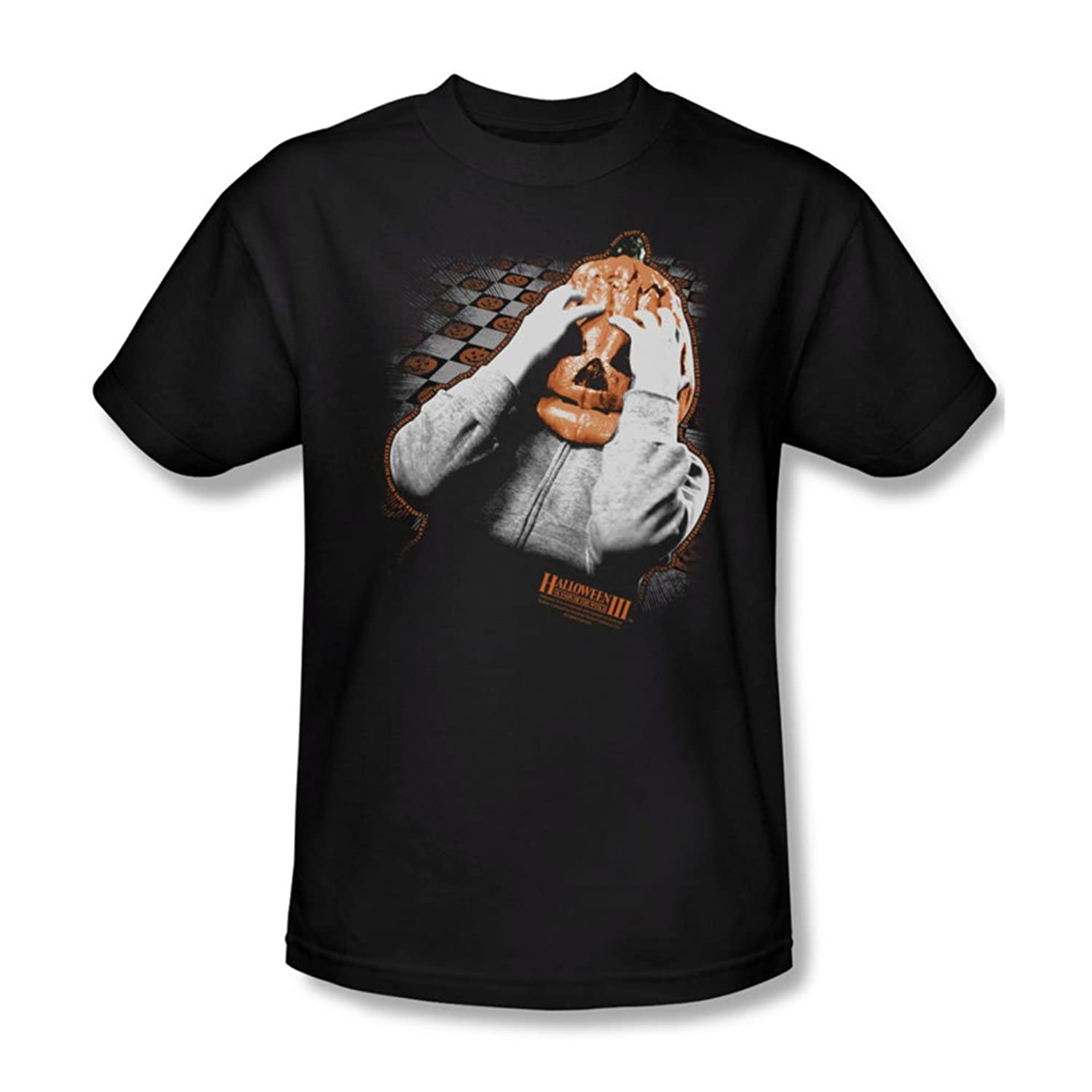 Halloween Iii - Mens Pumpkin Mask T-Shirt In Black