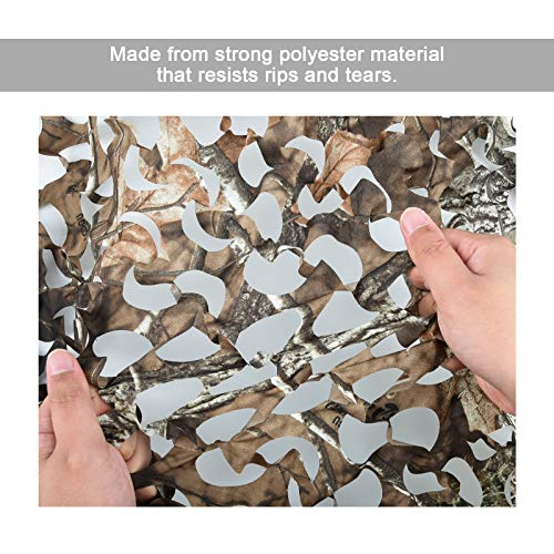 Waxaya Camouflage Sunshade Net Camo Netting Blinds for Camping Shooting Hunting (1.5x4M=5x13.2ft, Maple Leaf Super 2)