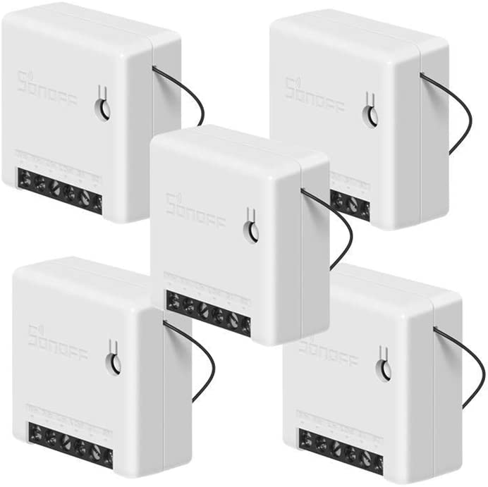 SONOFF Mini 10A Smart WiFi Wireless Light Switch, Universal DIY Module for Smart Home Automation Solution, Works with Alexa & Google Home Assistant, Compatible with IFTTT, No Hub Required (5-Pack)