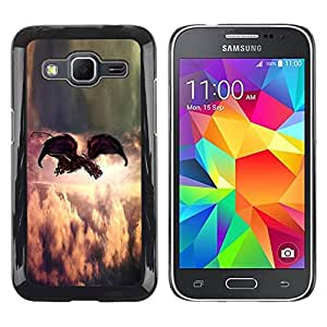 Paccase / SLIM PC / Aliminium Casa Carcasa Funda Case Cover para - Painting Indie Rock Feather God - Samsung Galaxy Core Prime SM-G360