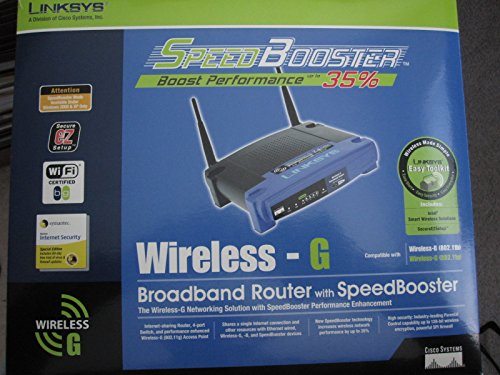 Linksys 2.4 Ghz (LINKSYS Wireless-G 2.4 GHz 54 Mbps Broadband Router w Speedboost WRT54GS ver.1.1)