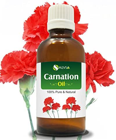 Carnation (Dianthus caryophyllus) Therapeutic Essential Oil by Salvia Amber Bottle 100% Natural Uncut Undiluted Pure Cold Pressed Aromatherapy Premium Oil - 30ML/ 1.1fl oz