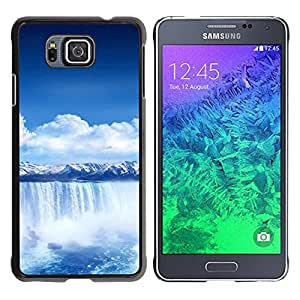 Impact Case Cover with Art Pattern Designs FOR Samsung ALPHA G850 Waterfall Blue Africa Betty shop