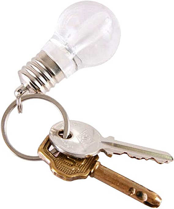 MOIKA Porte-cl/és Nouveau Mini mignon tactile 7 Changement de couleur dampoules LED trousseau jouet cr/éatif Outils Accueil Porte Clef