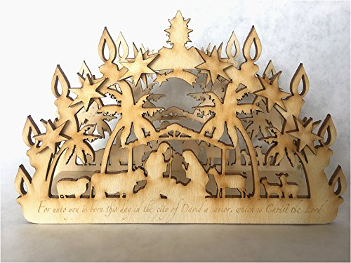 Candle Arch Small Schwibbogen Nativity by Lee Koldewyn